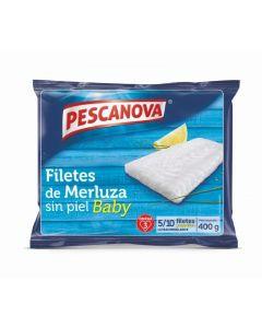 Filetes de merluza baby sin piel pescanova 400g