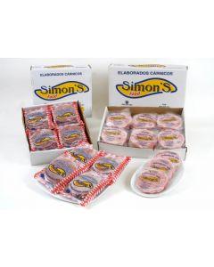 Hamburguesa mixta simons food pack de 3 unidades de 80g