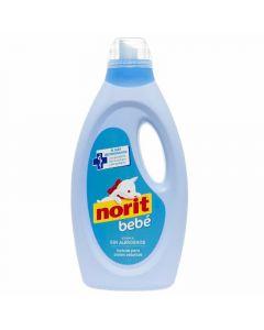 detergente líquido para lavado a máquina delicado bebé norit 32 dosis 1,125l