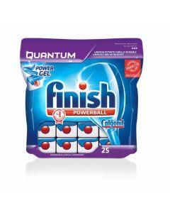Lavavajillas a máquina en pastillas finish quantum 25 dosis