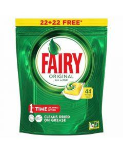 Lavavajillas a máquina en pastillas aroma limón fairy todo en 1 22+22 dosis