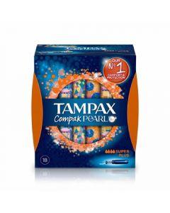 Tampones super compak pearl tampax pack de 18 unidades