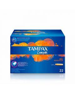 Tampones superplus compak tampax pack de 22 unidades