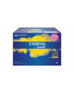Tampones regular compak tampax pack de 36 unidades