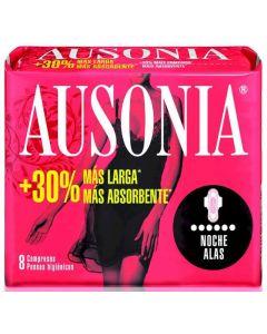 Compresas con alas noche ausonia air dry pack de 9 unidades