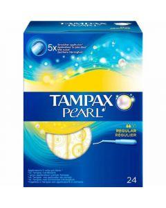 Tampones regular pearl tampax pack de 24 unidades