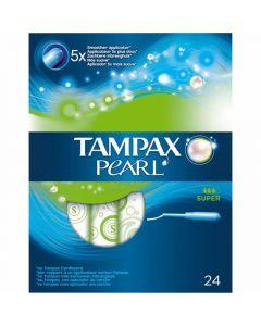 Tampones super tampax pearl pack de 24 unidades