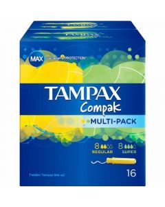 Tampones multipack compak tampax pack de 8 +8 unidades