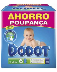 Toallitas dodot dermoactive pack de 6 unidades de 64 toallitas