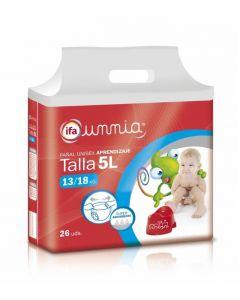 Pañal braga pasitos 13-18kg ifa unnia pack de 26 unidades