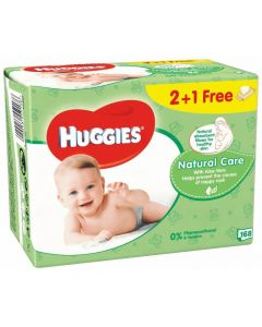 Toallitas natural care huggies pack de 168 unidades
