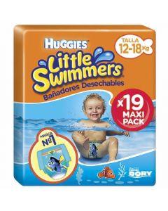 Pañal bañador desechable talla 5/6 12-18kg huggies pack de 19 unidades