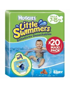 Pañal bañador desechable talla 3-4 7-15kg huggies pack de 20 unidades