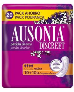 Compresas ausonia discreet extra 20 uds