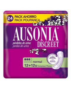 Compresas para incontinencia ausonia discreet normal pack de 24 unidades