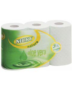 Papel higiénico nature nicky 3 capas pack de 6 rollos