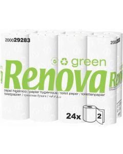 Papel higiénico green renova pack de 24 rollos