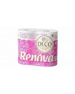 Papel higiénico decorado renova 4 capas pack de 4 rollos