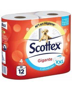 Papel higiénico gigante scottex pack de 4 rollos