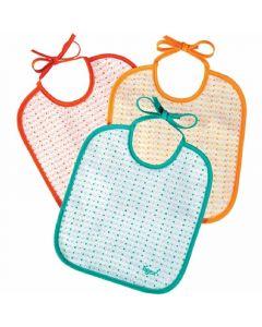 Baberos 0-6meses decorados tigex pack de 3 unidades