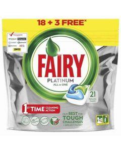 Lavavajillas a máquina en pastillas fairy platinum 18+3 dosis