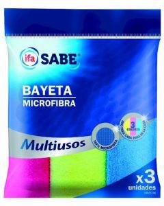 Bayeta de microfibra ifa sabe pack de 3 unidades