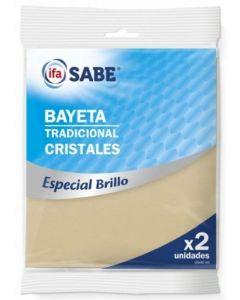 Bayeta para cristales ifa sabe pack de 2 unidades