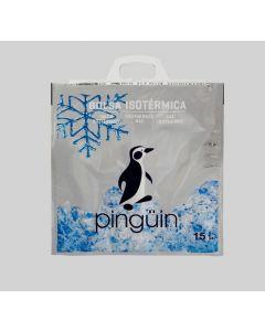 Bolsa isotérmica metalica pinguin estrella 15 litros