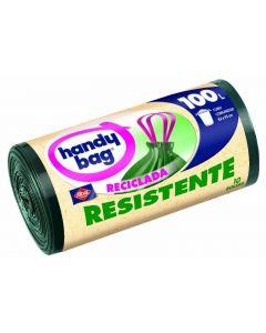 Bolsa de basura reciclada handy bang 100 litros 10 unidades