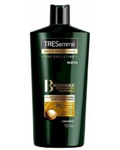 Champú con aceite de macadamia y proteina de trigo, botanique nutre y fortalece tresemmé 700ml