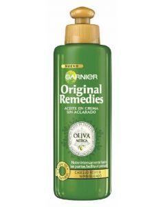 Aceite en crema oliva mítica original remedies garnier 200ml
