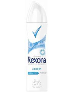 Desodorante aerosol anti-transpirante algodon rexona 200ml