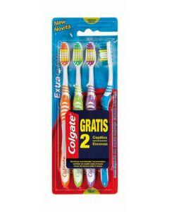 Cepillo de dientes medio extra clean colgate pack de 2 +2 unidades