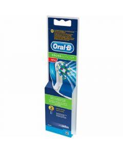 Cabezal de recambio cross action oral-b pack de 2 unidades