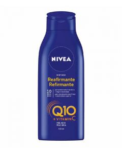 Crema corporal body milk reafirmante q10 piel seca nivea 400ml