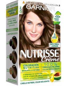 Coloración castaño claro 5 nutrisse creme garnier
