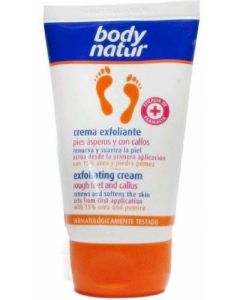 Crema exfoliante para pies asperos y callos body natur 100ml