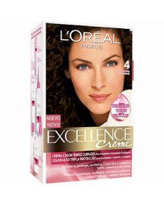 Coloración castaño 4 excellence loréal