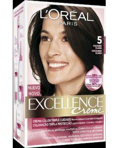 Coloración castaño natural 5 excellence loréal