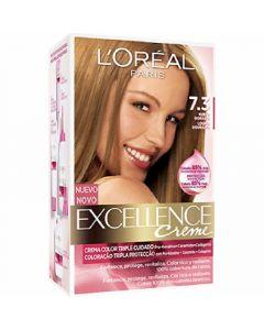 Coloración rubio dorado 7.3 excellence loréal