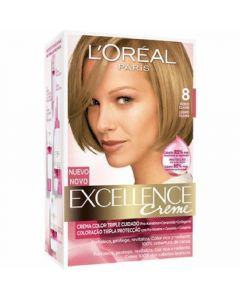 Coloración rubio claro 8 excellence loréal