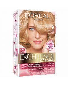 Coloración rubio claro 9 excellence loréal