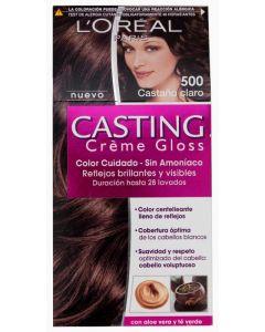 Coloración castaño claro 500 casting crème gloss loréal