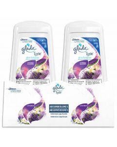 Ambientador absorbeolor aroma lavanda glade brise pack de 2 unidades