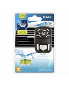 Ambientador para coche aroma aqua ambipur aparato + recambio