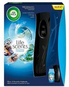 Ambientador automático aroma oasis air wick aparato + recambio 250ml