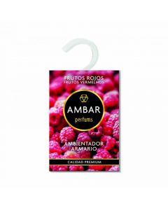 Ambientador para armario aroma frutos rojos ambar 13gr