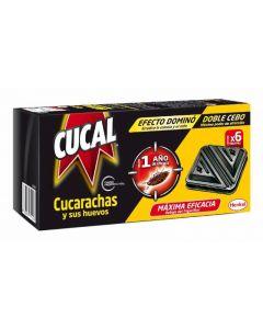 Trampa insecticida para cucarachas doble cebo cucal pack de 3 unidades