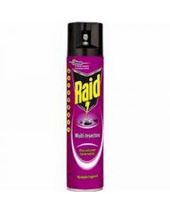Insecticida multi-insectos raid aerosol 400 ml