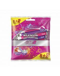 Maquinilla de afeitar con 2 hojas wilkinson extra beauty pack de 5 +2 unidades
